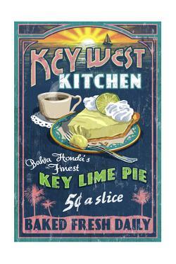 Bahia Honda, Florida Keys - Key Lime Pie Sign by Lantern Press