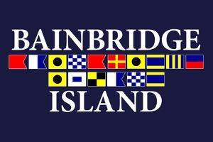 Bainbridge Island, Washington - Nautical Flags by Lantern Press