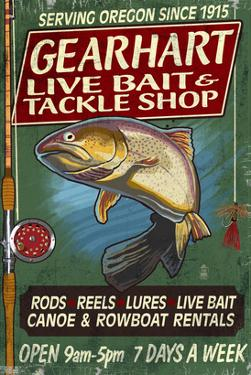 Bait and Tackle Shop Trout -Gearhart, Oregon by Lantern Press