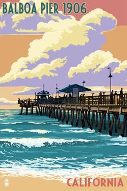 Balboa, California - Balboa Pier since 1906 by Lantern Press