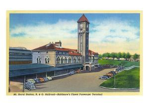 Baltimore, Maryland - Mt. Royal Station, Baltimore and Ohio Railroad View by Lantern Press