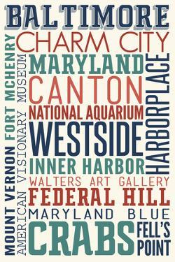 Baltimore, Maryland - Typography by Lantern Press