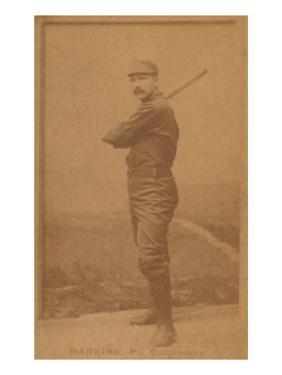Baltimore, MD, Baltimore Orioles, John Harkins, Baseball Card by Lantern Press