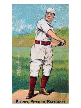 Baltimore, MD, Baltimore Orioles, Matt Kilroy, Baseball Card, no.3 by Lantern Press