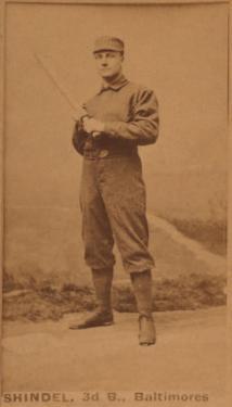 Baltimore, MD, Baltimore Orioles, Shindel, Baseball Card by Lantern Press