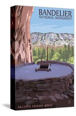 Bandelier National Monument, New Mexico - Alcove House Kiva by Lantern Press