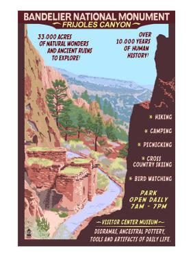 Bandelier National Monument, New Mexico - Day Scene by Lantern Press