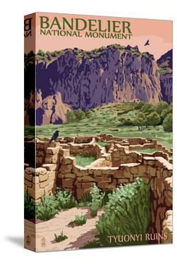 Bandelier National Monument, New Mexico - Tyuonyi Ruins by Lantern Press