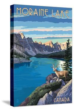 Banff, Alberta, Canada - Moraine Lake by Lantern Press