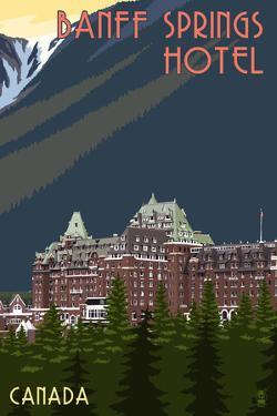Banff, Canada - Banff Springs Hotel by Lantern Press