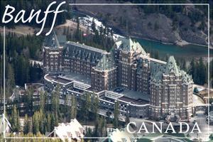 Banff, Canada - Banff Springs Hotel by Lantern Press