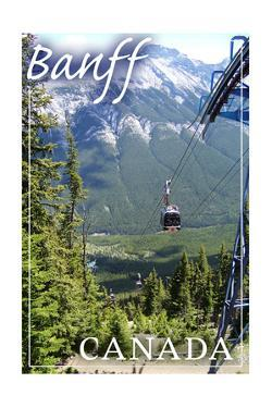 Banff, Canada - Gondola by Lantern Press