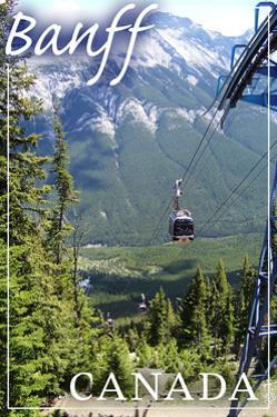 Banff, Canada - Gondola by Lantern Press