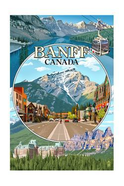 Banff, Canada - Montage by Lantern Press