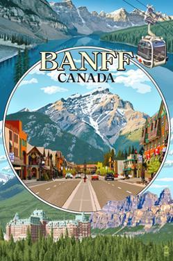 Banff, Canada - Montage by Lantern Press