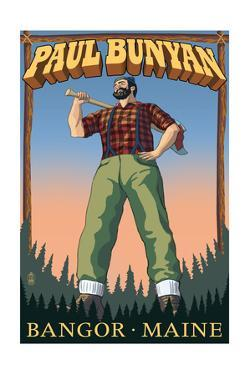 Bangor, Maine - Paul Bunyan by Lantern Press