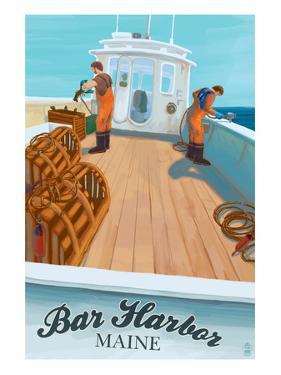 Bar Harbor, Maine - Lobster Boat by Lantern Press