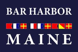 Bar Harbor, Maine - Nautical Flags by Lantern Press