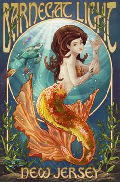 Barnegat Light, New Jersey - Mermaid by Lantern Press