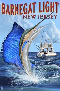 Barnegat Light, New Jersey - Sailfish Deep Sea Fishing by Lantern Press