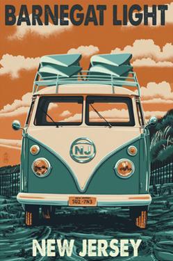 Barnegat Light, New Jersey - VW Van by Lantern Press