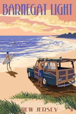 Barnegat Light, New Jersey - Woody on the Beach by Lantern Press