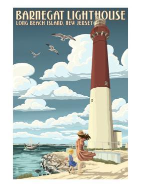 Barnegat Lighthouse - New Jersey Shore by Lantern Press