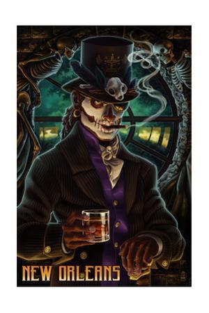 Baron Samedi Voodoo - New Orleans, Louisiana by Lantern Press