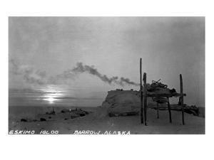 Barrow, Alaska - Snowy Eskimo Igloo by Lantern Press