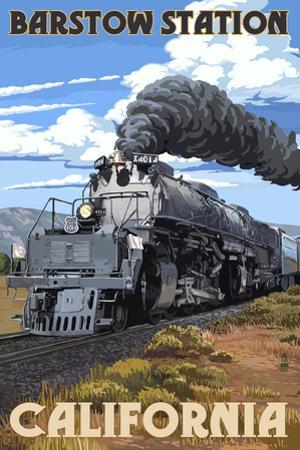 Barstow Station, California - Steam Locomotive by Lantern Press