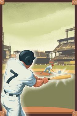 Baseball - Batter by Lantern Press