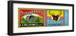 Bay au Vin, Canada - New Brunswick Blueberries Label by Lantern Press
