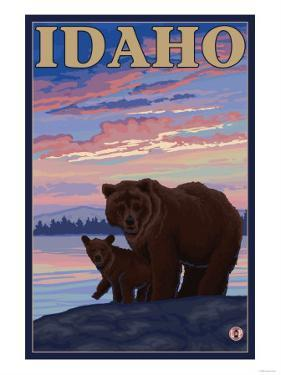 Bear and Cub, Idaho by Lantern Press