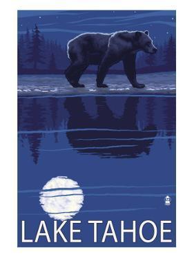 Bear at Night - Lake Tahoe, California by Lantern Press