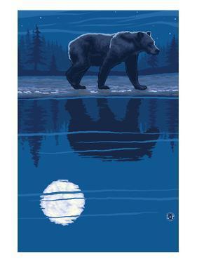 Bear at Night by Lantern Press