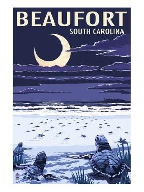 Beaufort, South Carolina - Sea Turtles Hatching by Lantern Press