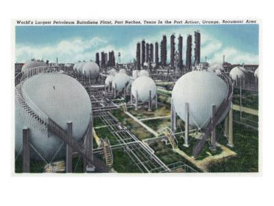 Beaumont, Texas - General View of the World's Largest Petroleum Butadiene Plant, c.1948