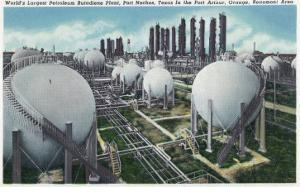 Beaumont, Texas - General View of the World's Largest Petroleum Butadiene Plant, c.1948 by Lantern Press