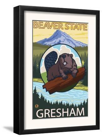 Beaver & Mt. Hood, Gresham, Oregon by Lantern Press