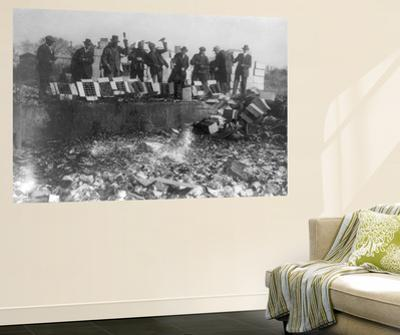 Beer Bottles Smashed During Prohibition Photograph - Washington, DC by Lantern Press
