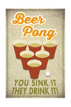 Beer Pong by Lantern Press