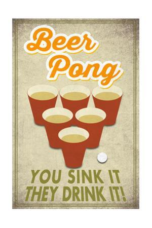 Beer Pong by Lantern Press
