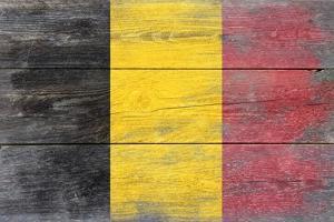Belgium Country Flag - Barnwood Painting by Lantern Press