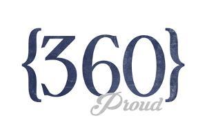 Bellingham, Washington - 360 Area Code (Blue) by Lantern Press