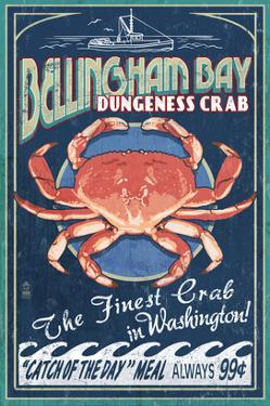 Bellingham, Washington - Dungeness Crab by Lantern Press