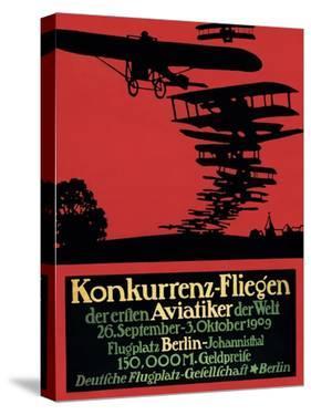 Berlin, Germany - Konkurrenz-Fliegen Airfield Promotional Poster by Lantern Press