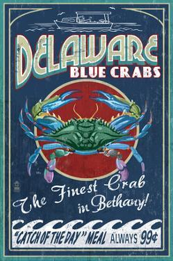Bethany, Delaware Blue Crabs by Lantern Press