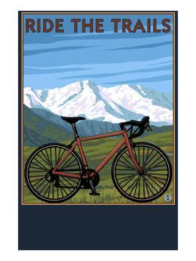 Bicycle - Mountains by Lantern Press