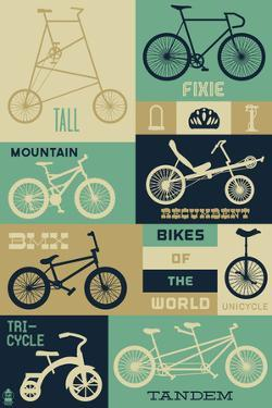 Bicycle of the World - Blues by Lantern Press