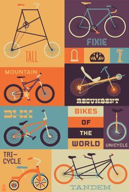 Bicycle of the World by Lantern Press